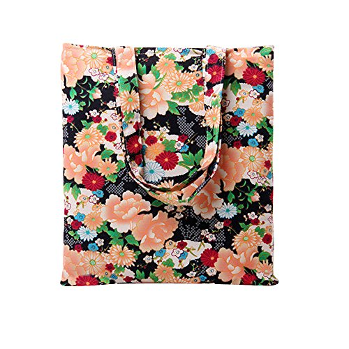 Oath_song - Sacchetto donna , beige (L236-floral black/Open), Aperto closure