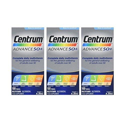 3 x Centrum Advance 50+ 100 Comprimidos