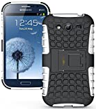 Heartly Armor Rugged Back Case For Samsung Galaxy Grand Duos I9082 / Galaxy Grand Neo Gt-I9060 / Galaxy Grand Neo Plus I9060I - White