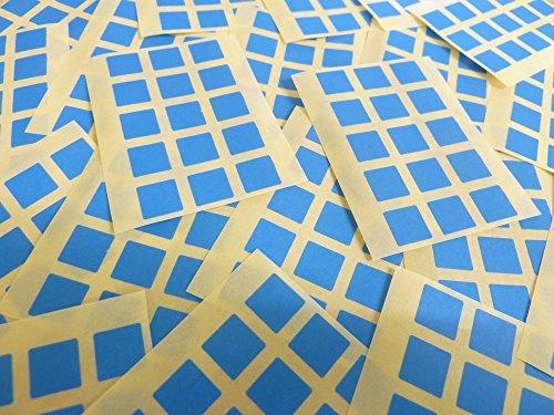 Pequeño 10mm Cuadrado Azul Medio Código De Color Adhesivos, 150 auta-Adhesivo Cuadrados adhesivo Etiquetas De Colores