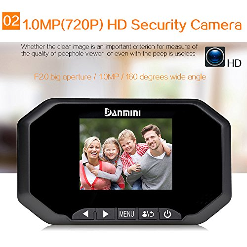 DANMINI Peephole Door Camera Viewer 160 Degree Door Viewer 3IN LCD Digital Peephole Door Viewer Camera w/ Snapshot