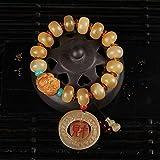 Mayanyan Natürlichen Abacus Perlen Ice Samen gelb Material Kapillare Klaue Armband Männer und Frauen Gaben