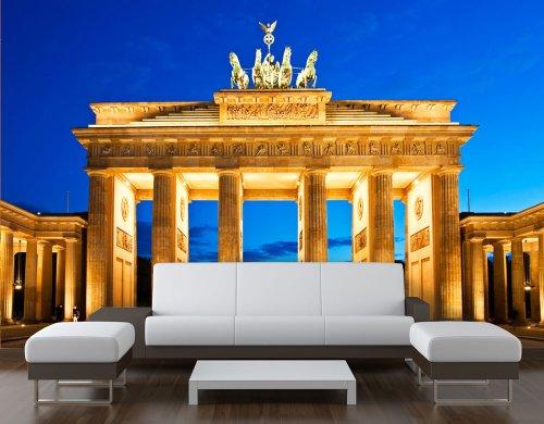 Fototapete Brandenburger Tor Architektur KT175 Größe: 400x280cm Berlin Wiedervereinigung Tapete Deutschland