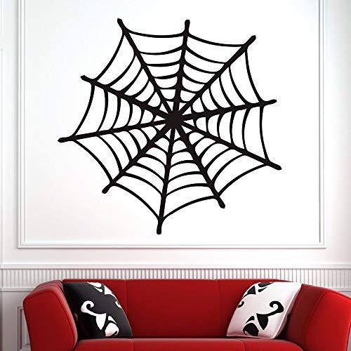 hllhpc Spinnennetz Cartoon Muster Wandaufkleber für Wohnzimmer Halloween Ferienhaus Wandbilder Vinyl Aufkleber Kindergarten Kinderzimmer 57 * 57 cm