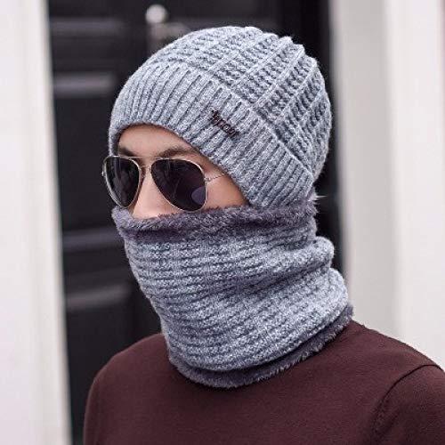 kyprx Baseball Cap snap Back mesh Baseball warme mütze männer Frauen strickmütze schal mützen Maske Bonnet Cap hüte hellgrau