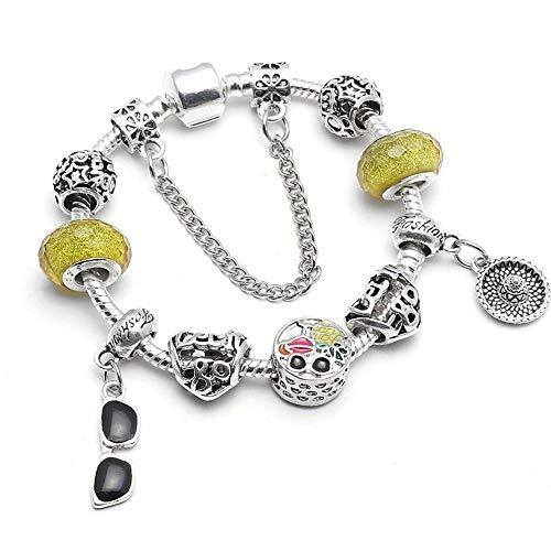 Yisj armband Mode Glassess anhänger Charme armbänder für Frauen Kette feine armbänder armreifen DIY kristall schmuck pulseras 18 cm