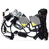 TradeShopTraesio - Kit BIXENON H4 H4-3 6000K 55W HID Coppia FARI Luce per Auto CENTRALINA ROLINGER