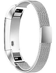 """Bracelet Fitbit Alta et Fitbit Alta HR, Simpeak Bracelet en Acier Inoxydable Milanaise Remplacement Bandes Réglable avec Fermoir Magnétique 5,5""""-8,5"""""""