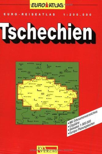 Preisvergleich Produktbild RV Euro-Reiseatlas 1:200 000 Tschechien (Spiralbindung)