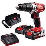 Einhell 4513834 Taladro sin Cable Percutor TE-CD 18/2 Li-i Kit con Bateria Litio, 18 V, Rojo