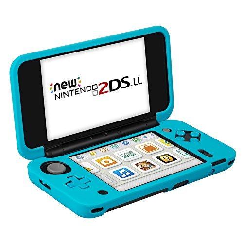 Nintendo New 2DS XL Silikonhülle (Blau), Keten Nintendo Antirutsch Silikon-Schutzhülle für Nintendo New 2DS XL (2017) Schutzhülle leichtgewichtig designt für komfortables Spielgefühl -