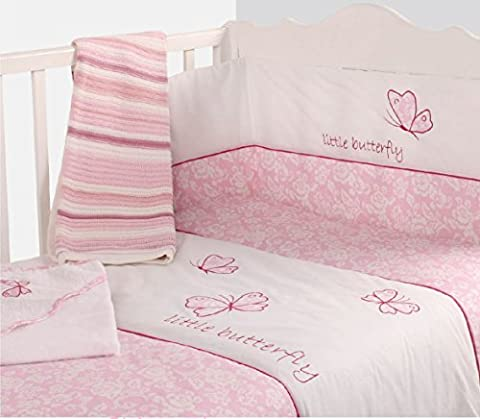 Kinderzimmer Modell Rosa Schmetterling Gigan Geblümt Reversible Set mit Auflage