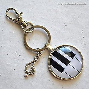 Schlüsselanhänger Klavier Notenschlüssel