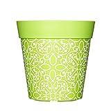 Vaso da fiori rosa, blu e verde, vasi da fiori colorati, per esterni, vasi da giardino, vasi in plastica, dimensioni: 22 cm/8 in., plastica, Green Lattice, 5 L