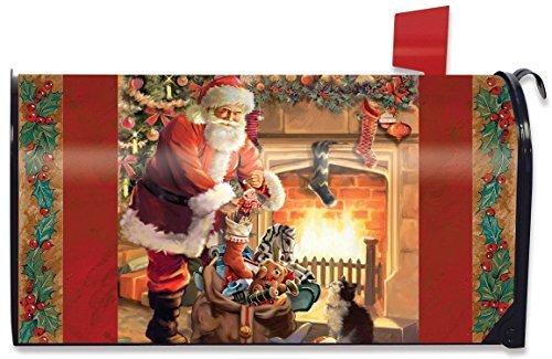 Briarwood Lane Santa am Kamin magnetisch Mailbox Cover Weihnachten Standard -