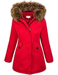 Rock Creek Selection Damen Echtfell Winter Jacke Parka Kapuze Designer  Damenjacke Outdoor D-204 XS d89cf118df