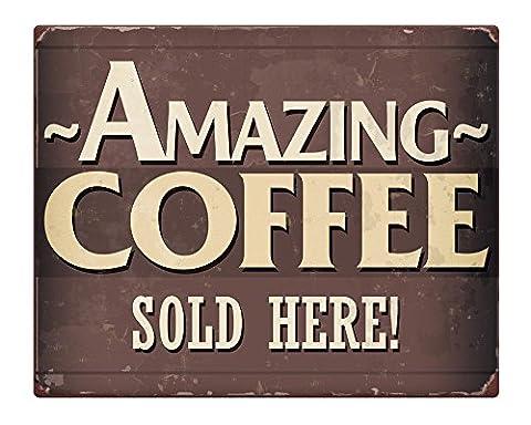Amazing café vente 8 x 10 cm-Plaque métal