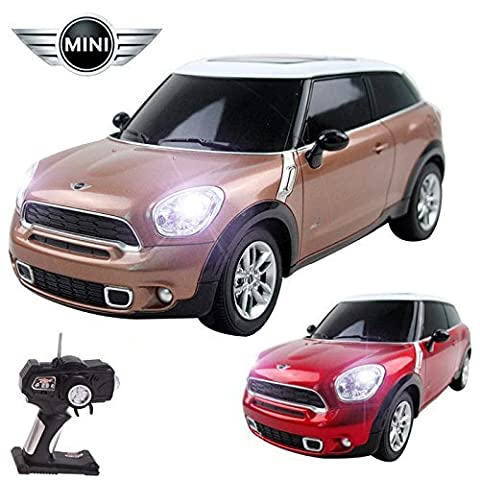 Comtecglogic® CM-2225 Official Licensed 1:16 Mini Cooper Paceman Radio Remote Controlled RC Electric Car - Ready To Run EP RTR - Brown