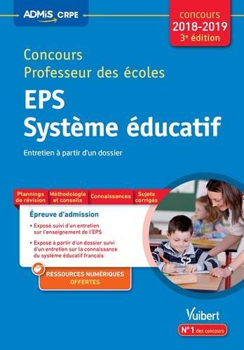 Concours Professeur des écoles - Entretien à partir d'un dossier - EPS et Système éducatif - Concours CRPE 2018
