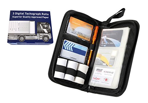 Price comparison product image Digital tachograph organiser tacho holder wallet & TACHO 3 spare rolls HGV