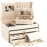 Duchess Ivory Bonded Leather Jewellery Box with separate Traveller and Jewellery Roll
