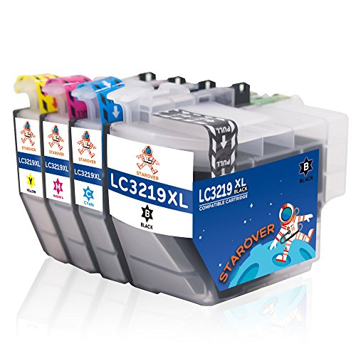 Preisvergleich Produktbild STAROVER 4x Kompatibel Tintenpatronen LC-3219XL Ersatz für Brother LC3219 XL LC3219XL Druckerpatrone für Brother MFC-J5330DW MFC-J5335DW MFC-J5730DW MFC-J5930DW MFC-J6530DW MFC-J6930DW MFC-J6935DW Drucker (1 Schwarz + 1 Cyan + 1 Magenta + 1 Gelb)