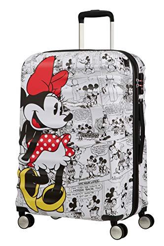 American Tourister Wavebreaker Disney - Comics Spinner Medium Bagaglio a mano, 67 cm, 64 liters, Bianco (Minnie White)