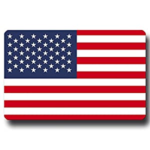 Kühlschrankmagnet Flagge USA – 85×55 mm – Metall Magnet mit Motiv Länderflagge Amerika für Kühlschrank Reise Souvenir