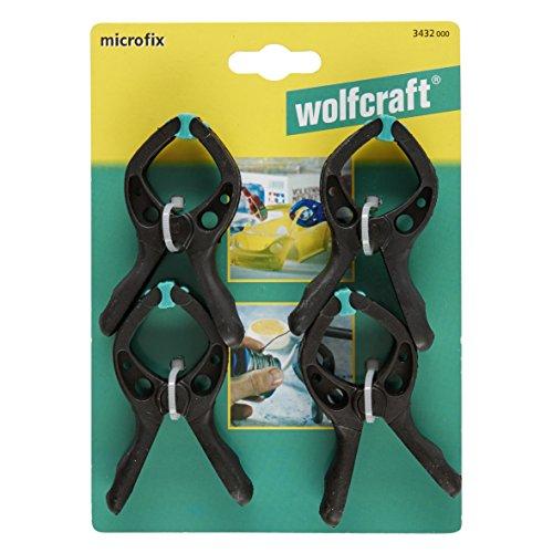 2 morsetti a molla di precisione microtip 60 wolfcraft 3431000
