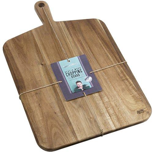 Jamie Oliver Cookware Range Chopping Board, Acacia Wood, Natural, Large