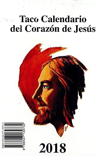 Calendario 2018. Taco de pared Corazón de Jesús