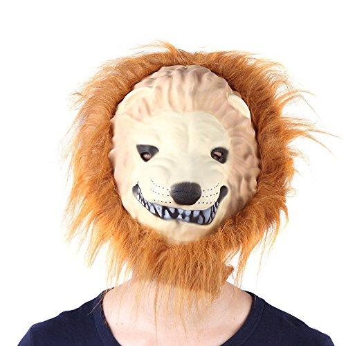 Festnight Kostüm Masken Löwen Maske Zoo Dschungel Wald Creature Karneval Gesichtsmaske Neuheit Kostüm Masken Party Cosplay Ostern Kostüm Party Masken ress Up Simulation Requisiten ()
