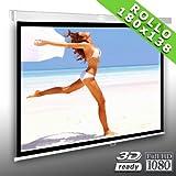 4:3 Rolloleinwand Slender Line 180 x 138 Beamer Leinwand FULL-HD 4K 3D tauglich