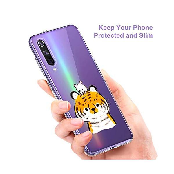 Oihxse Funda Xiaomi Redmi 7A, Ultra Delgado Transparente TPU Silicona Case Suave Claro Elegante Creativa Patrón Bumper… 3