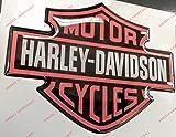 Stemma logo decal HARLEY DAVIDSON, classic logo, ORANGE, adesivo resinato, effetto 3D. Per SERBATOIO o CASCO
