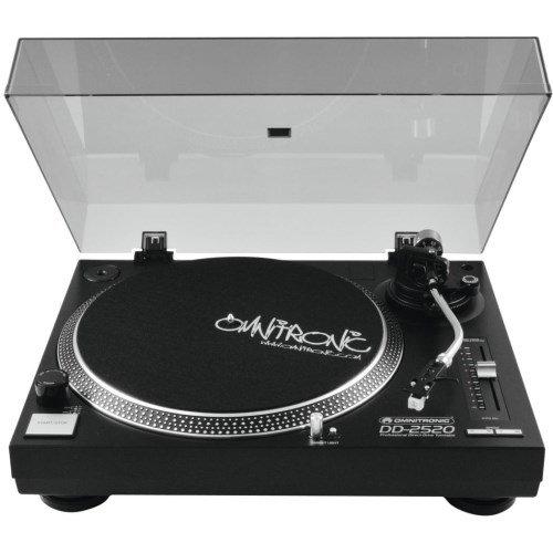 Omnitronic DD-2520 USB-Plattenspieler sw | Direktgetriebener DJ-Plattenspieler mit Phono-/Line-Umschaltung | Digitalisieren Sie in wenigen Schritten Ihre alten Vinyl-Schätze - mit Hilfe des direktgetriebenen DD-2520 USB-Plattenspielers