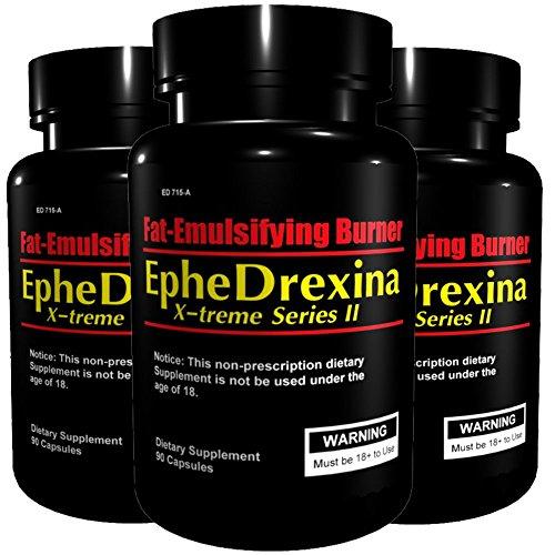 3x EpheDrexina | X-treme Series II (270 Kapseln Spar-Pack | Hochdosiert) | Seit Jahren eins unserer beliebtesten Mittel zur Diätunterstützung - Fatburner - Diät | Premium Qualität nach GMP & ISO9001 -