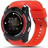 Bluetooth Smartwatch,TURNMEON® Reloj Inteligente Pulsera Deportiva con Ritmo Cardiaco, Podómetro, Recordatorio Llamada SMS, Recordatorio Sedentaria, Monitor del Sueño para Smartphone (Red)