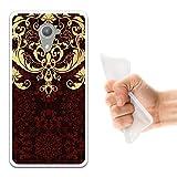 Wiko U Feel Prime Hülle, WoowCase Handyhülle Silikon für [ Wiko U Feel Prime ] Luxus Barockmuster Handytasche Handy Cover Case Schutzhülle Flexible TPU - Transparent