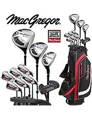 MacGregor CG2000 High Launch Herren Golfset Stahlschaft Eisen + Deluxe Einkaufstasche, gratis Regenschirm