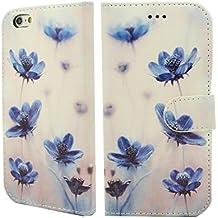 NWNK13iPhone 5C libro de magnético con marco de gel Premium–Funda de piel con tapa para incluye protector de pantalla y gamuza