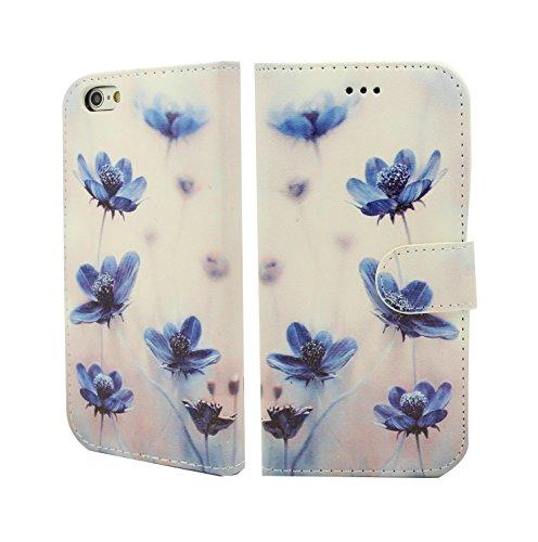 NWNK13® Magnetverschluss® iPhone 5C Buch mit Gel Rahmen Premium Leder Flip Case Cover Plus Displayschutzfolie und Reinigungstuch