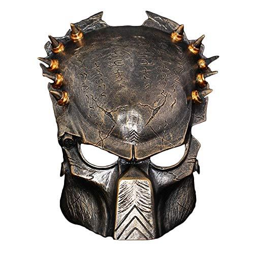 (Mesky Predator Maske Cosplay Mask Kostüme Zubehör für Halloween, Party Harz Maske.)