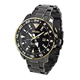 Seiko SUN026P1 Kinetic Gmt Stainless Steel Case Men's Watch
