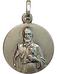 Medalla de San Judas Tadeo Apóstol de Plata Maciza 925- Patrón de los casos imposibles