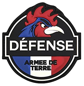 Patch Ecusson 3d Pvc Scratch Defense Armee De Terre Coq Couleur Kza-e-d-1008 /444130-5548 Airsoft