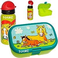 alles-meine.de GmbH 2 TLG. Set _ Lunchbox / Brotdose & Trinkflasche - Mein Ponyhof - Pferd mit H.. preisvergleich bei kinderzimmerdekopreise.eu