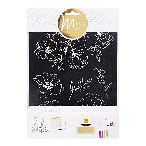 american-crafts-minc-art-bildschirm-65-x-216-cm-blumenmuster-acryl-mehrfarbig-2-teilig