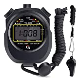 Cronometro Sportivo con Fischio, hicoosee Impermeabile Grande Schermo Digitale Cronometro per Fitness, Corsa, Allenamento Basket