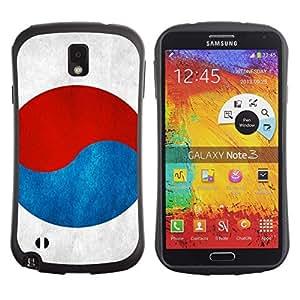Stark Weich TPU GEL Hülle Schutz Etui für Samsung Note 3 N9000 N9002 N9005 / Business Style South Korea Flag